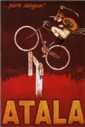 Vintage Italian Atala Bicycle Advertisement Poster.
